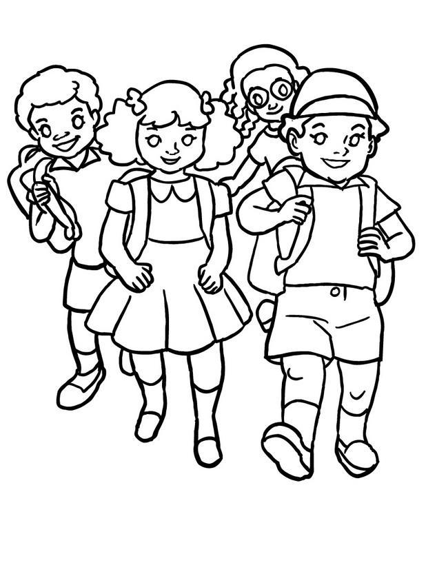 Dibujos Nios Caminando  AZ Dibujos para colorear