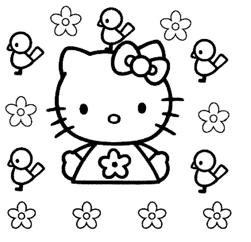 Hello Kitty plantillas para colorear - Imagui