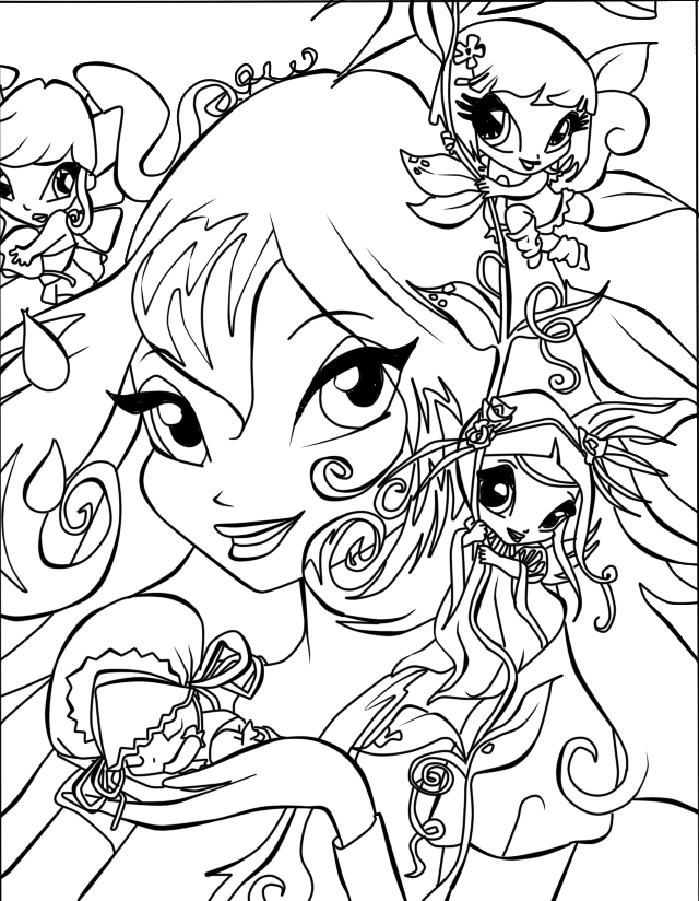 Winx Club All: Colorear: marzo 2012