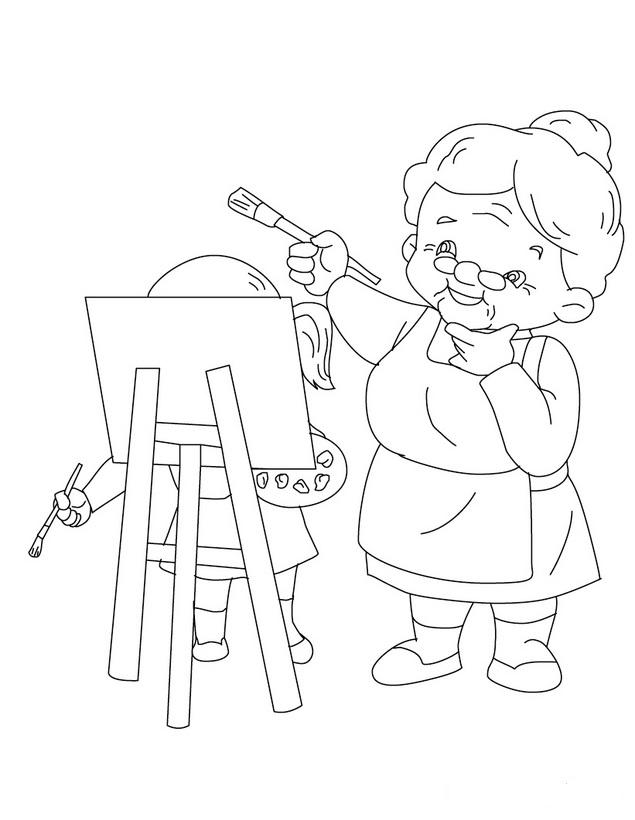 abuela caperucita Colouring Pages (page 2)