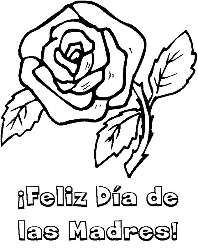 Flores De Color Rosa - AZ Dibujos para colorear