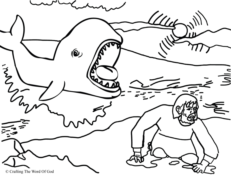 Jonah In The Fish Activities And Coloring Pages Pictures to Pin on