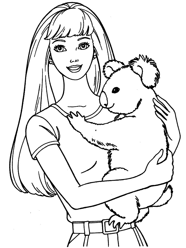 Barbie 21 - Dibujo de Barbie para imprimir