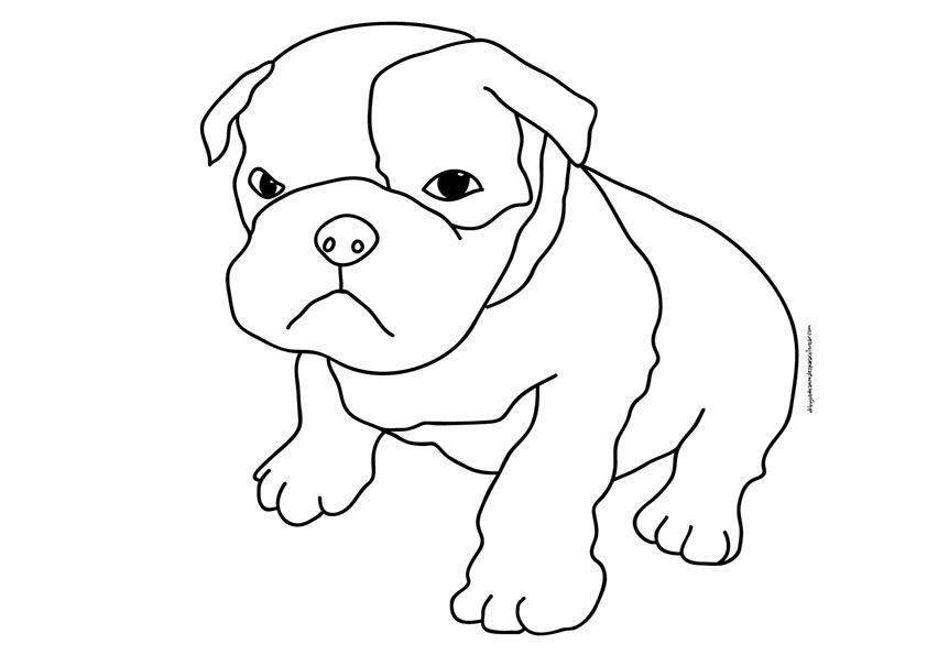 Perritos Para Colorear - AZ Dibujos para colorear