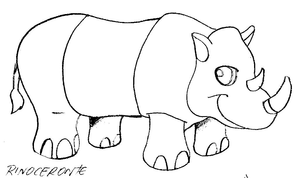 Rinoceronte Para Colorear - AZ Dibujos para colorear