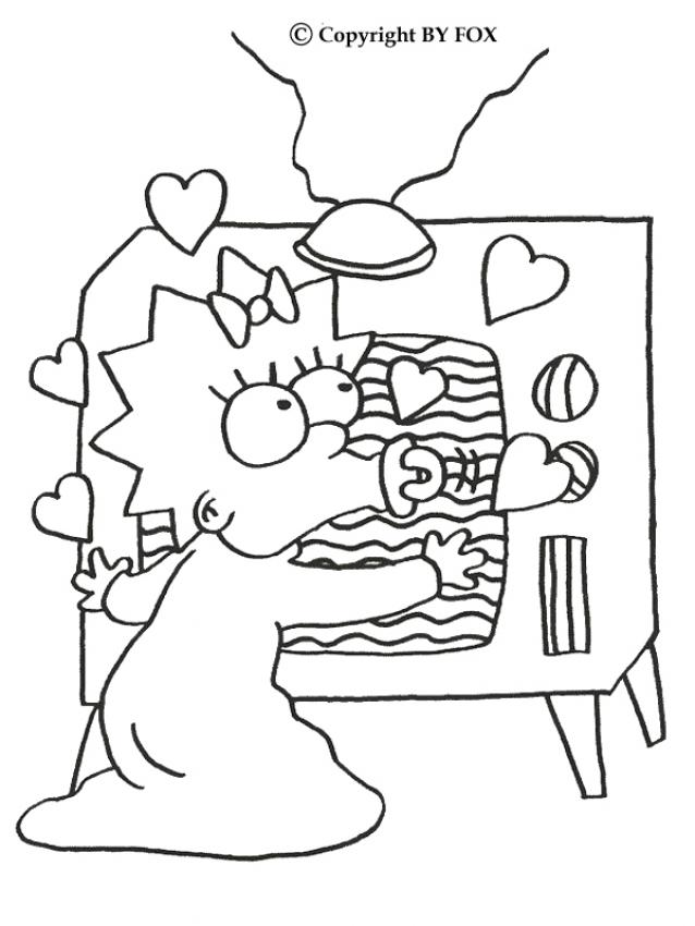 MAGGIE coloring pages - Maggie and the TV