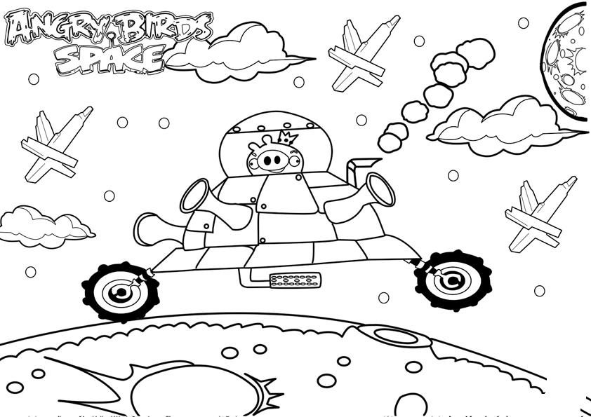 Free angry birds navidad coloring pages