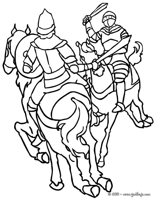 Dibujos Para Colorear De Caballeros - AZ Dibujos para colorear