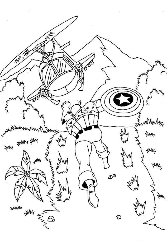 Capitan America Para Colorear - AZ Dibujos para colorear