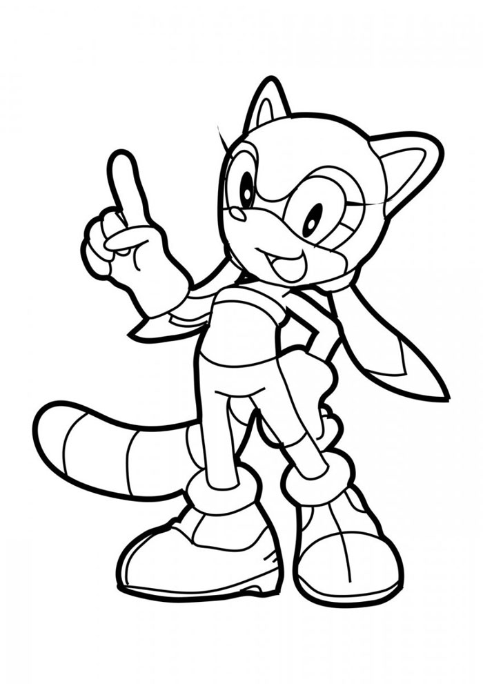 Sonic Racer Colouring Pages