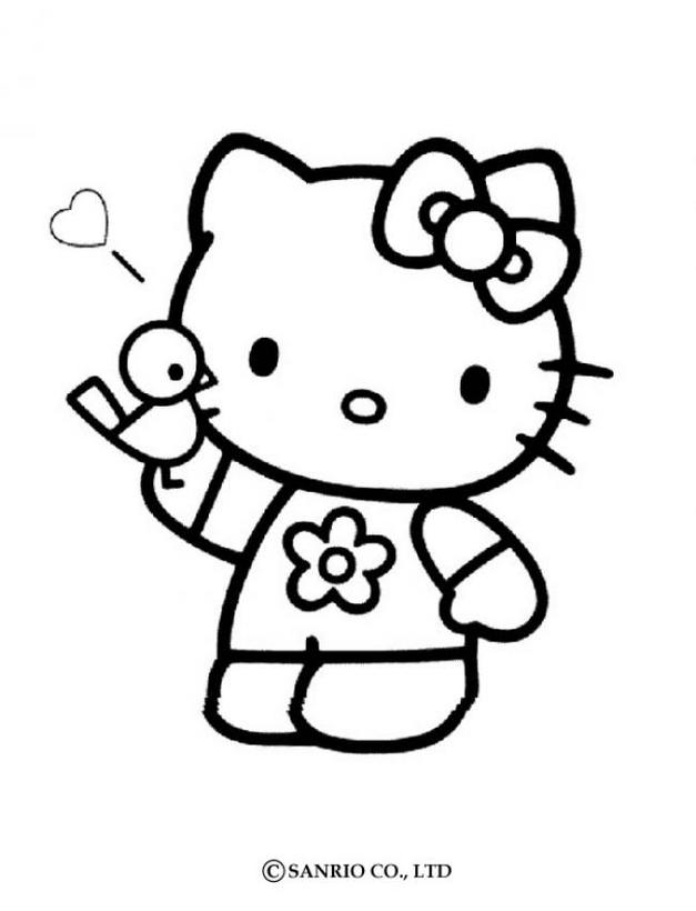 Hello kitty1 - Dibujo de Hello Kitty para imprimir