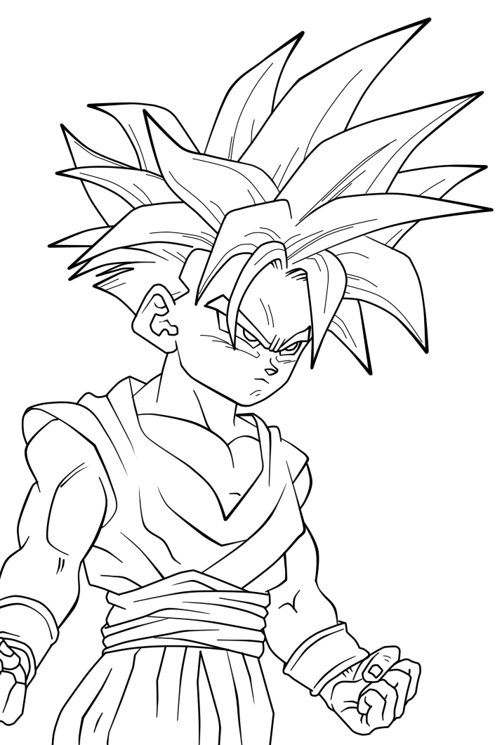 gohan super sonic Colouring Pages