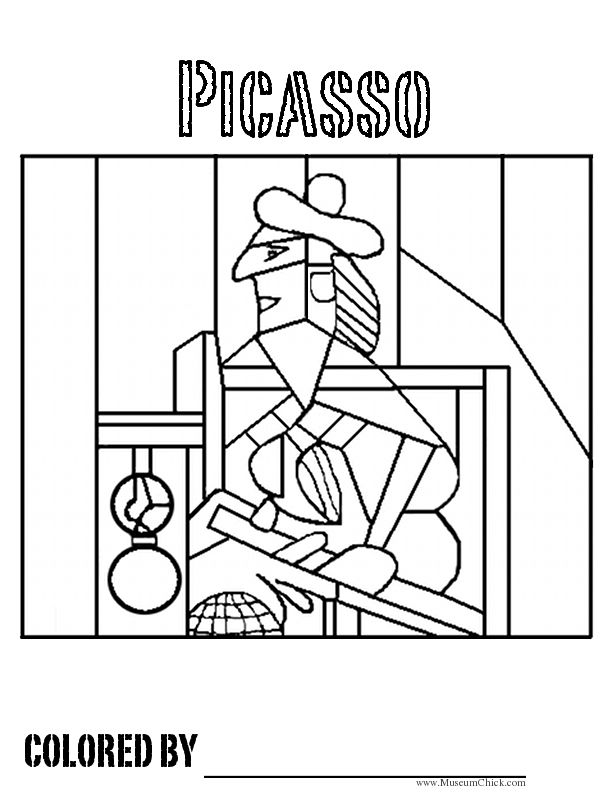 Colorear Picasso | Spanish teaching :) | Pinterest