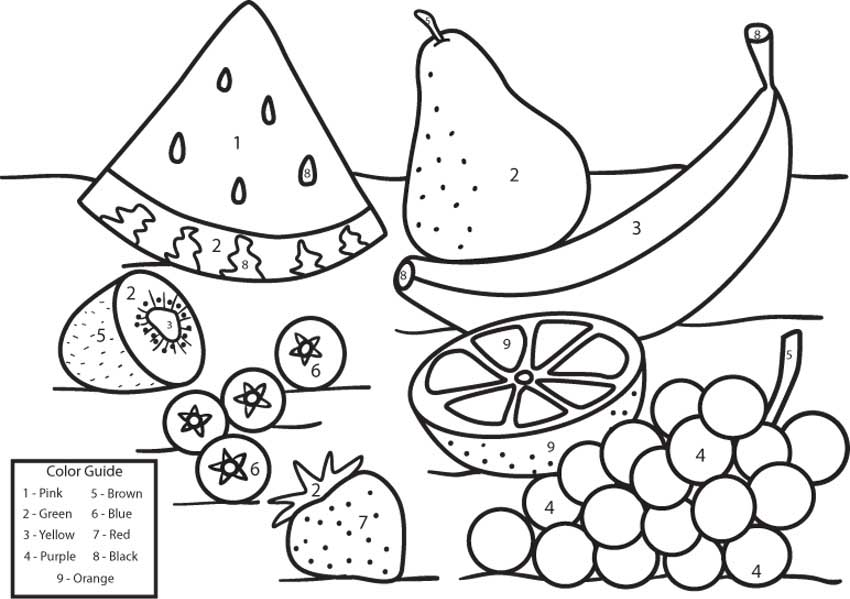 fruit coloring by number - games the sun | games site flash games ...