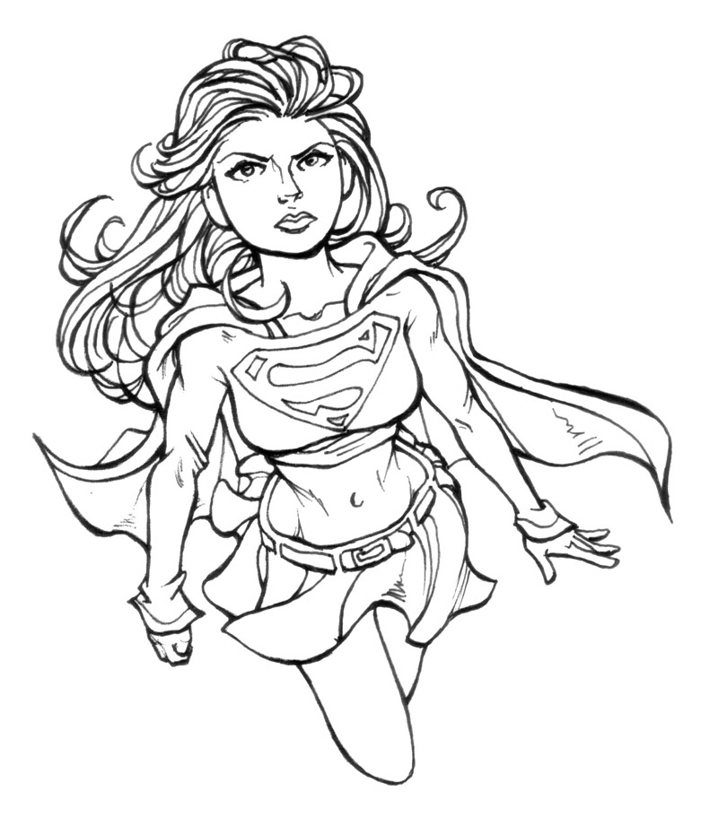 Pin Supergirl Coloring Pages On Pinterest Supergirl Coloring Pages