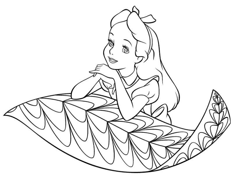 Dibujos Para Colorear Alicia En El Pais De Las Maravillas - AZ ...
