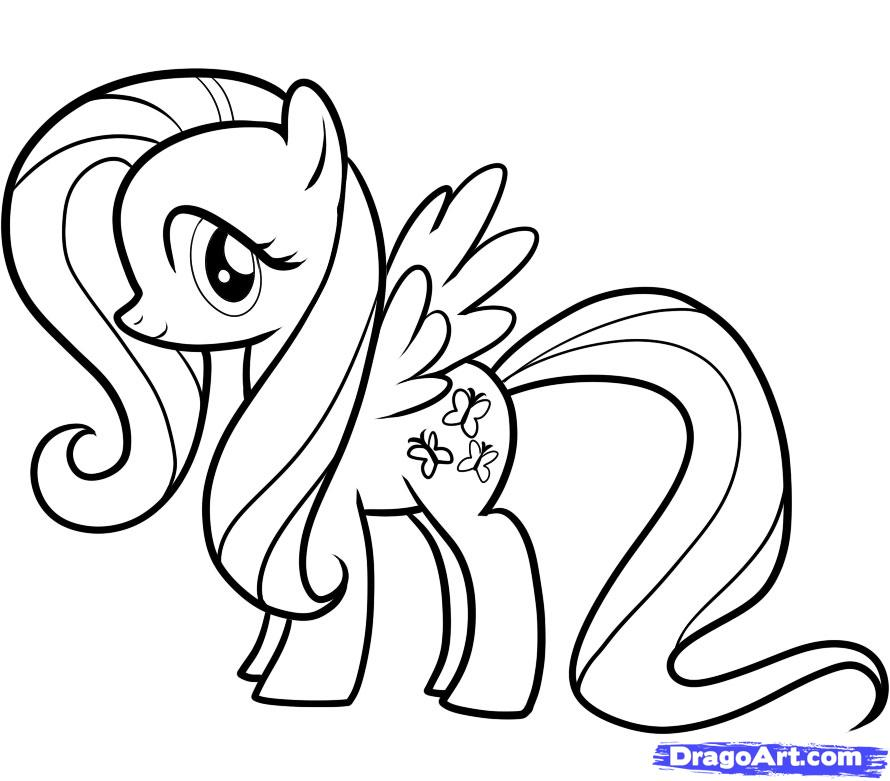 fluttershy my littlKTM Colouring Pages