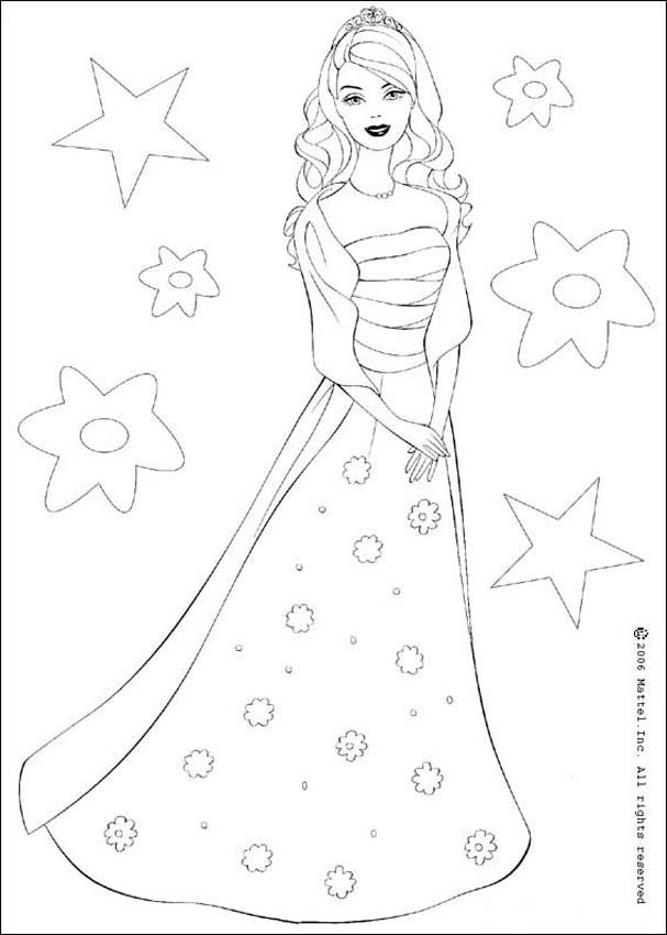 Dibujos De Barbie Y El Castillo De Diamantes Para Colorear - AZ ...