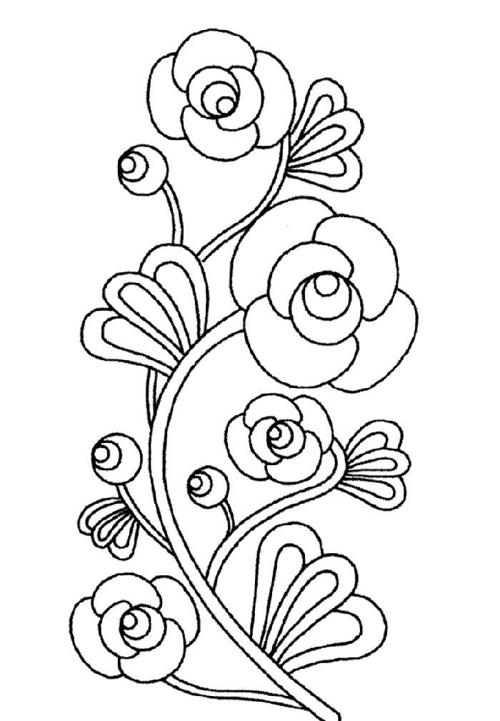 Hermosa Flores Para Colorear Flores Para Niños Regalo - Dibujos Para ...