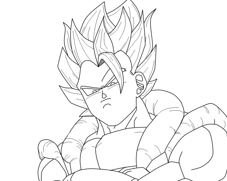 GOGETA_SSJ_LINEART by SuperSayan4 on deviantART