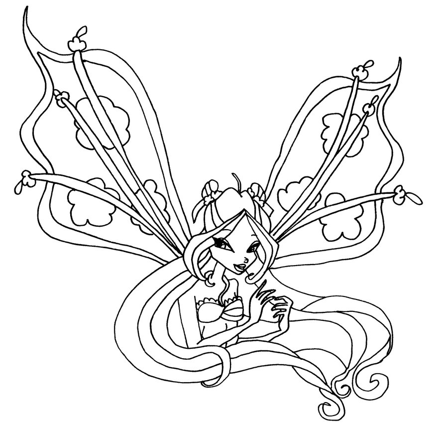 Winx Club Flora Coloring Pages - AZ Dibujos para colorear