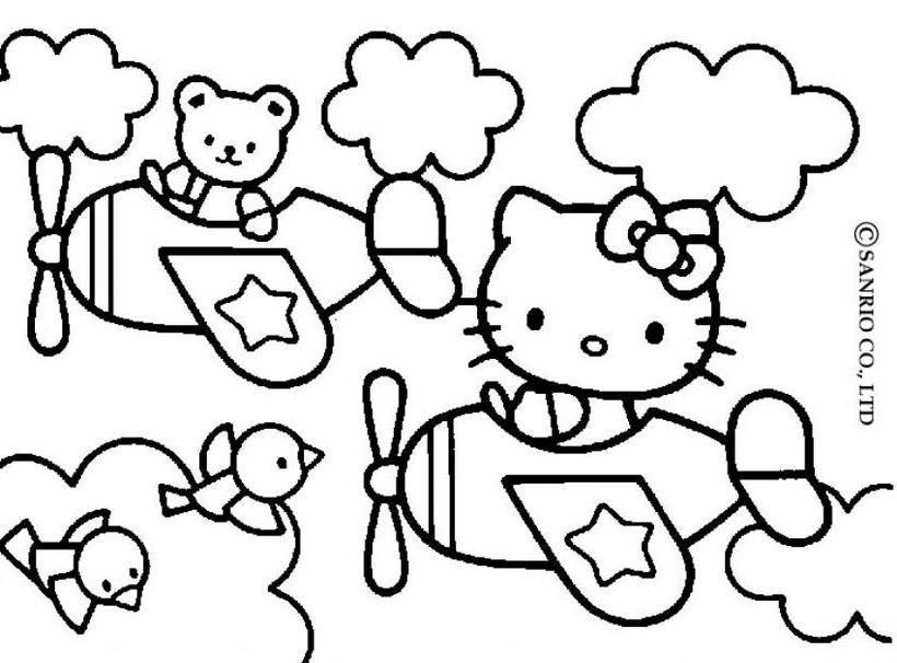 Hello kitty2 - Dibujo de Hello Kitty para imprimir