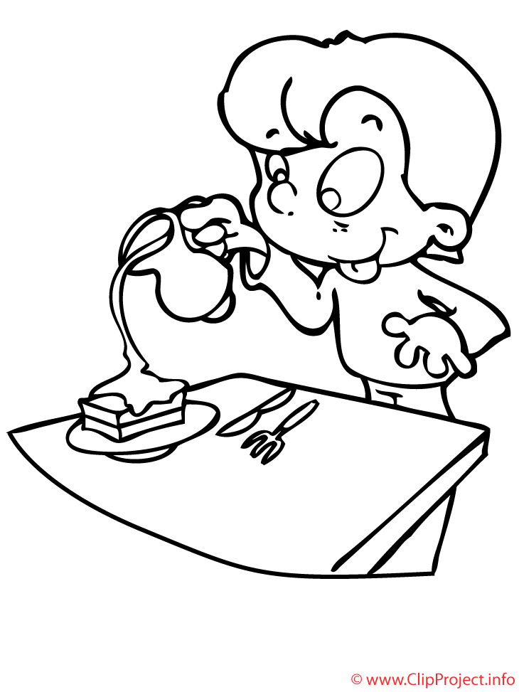 nino en la cocina dibujo para colorear gratis