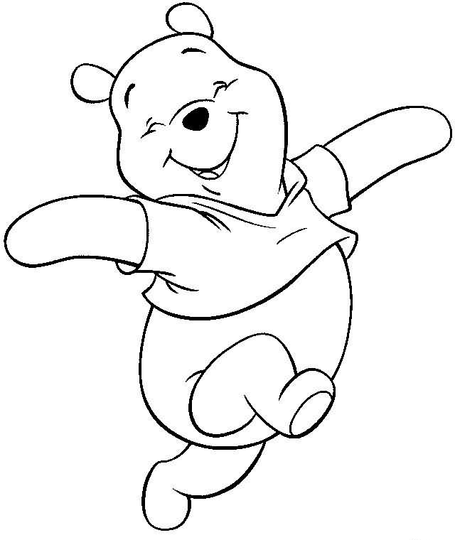 Winnie the Pooh Characters Coloring Pages