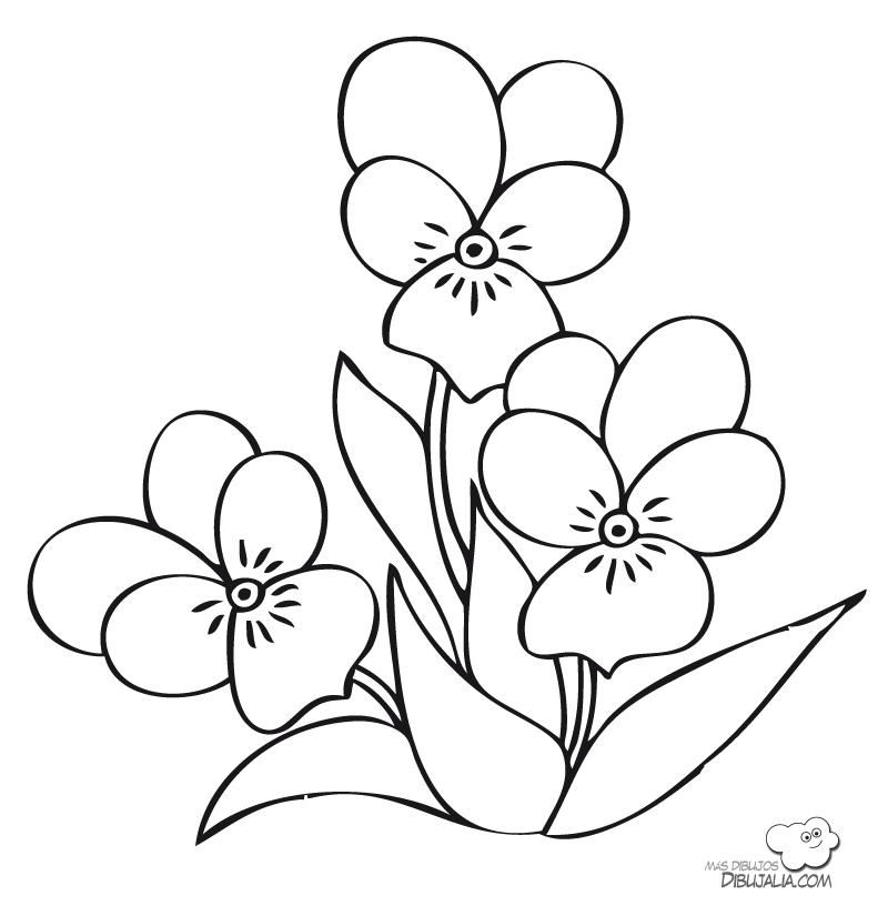 Flores De Primavera Para Colorear - AZ Dibujos para colorear