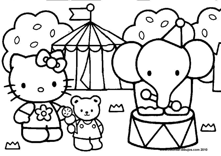 Dibujos De Hello Kitty Para ColorearHello Kitty Para Colorear Y