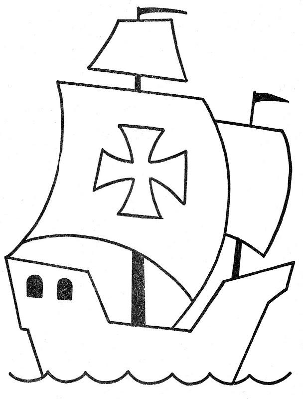 Dibujos De Carabelas Sketch Coloring Page