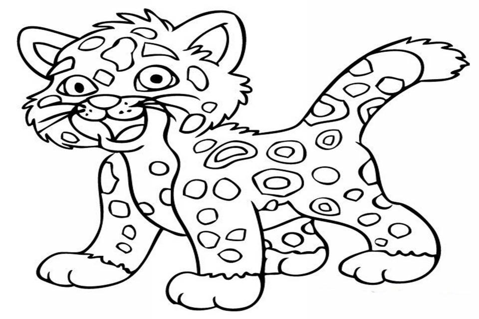 Leopardos Para Colorear - AZ Dibujos para colorear