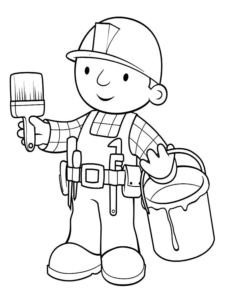 Bob El Constructor Para Colorear - AZ Dibujos para colorear