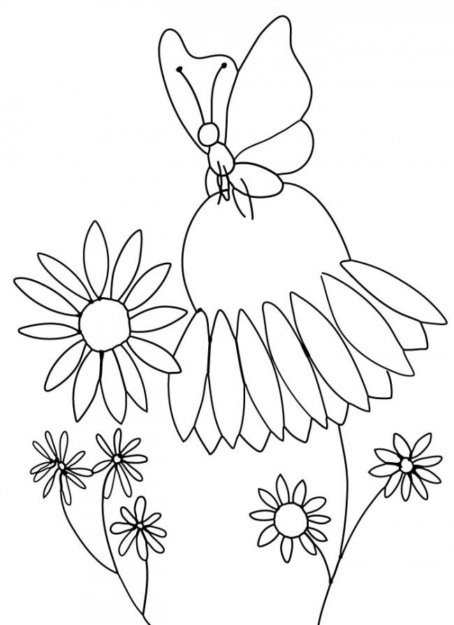 "Free Printable Coloring Page and Clipart | Butterfly and ""Purple ..."