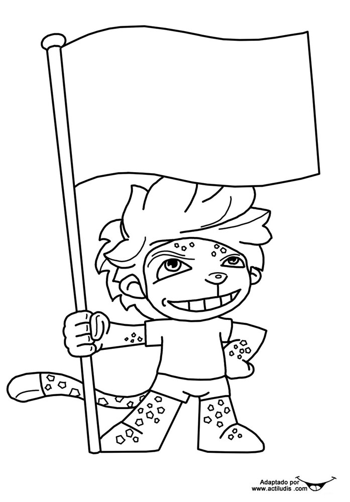 zakumi coloring pages - photo #14