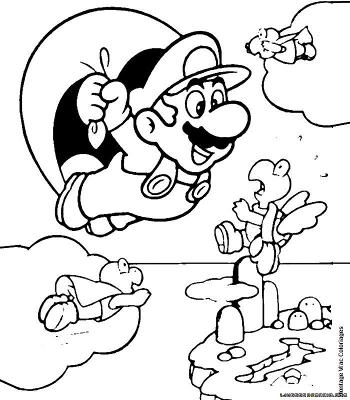 Bonito Página Para Colorear Mario Composición - Ideas Para Colorear ...
