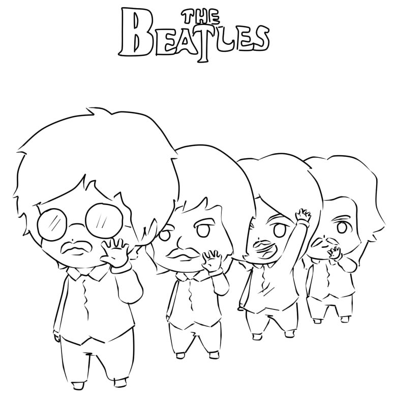 the beatles para colorear colouring pages (page 3)