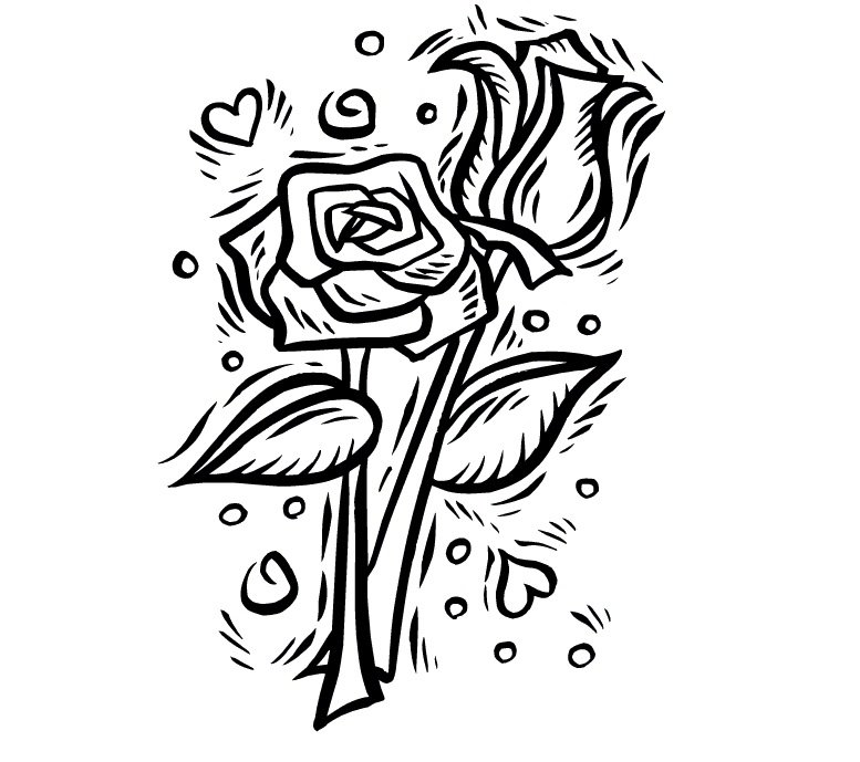 Dibujos De Rosas Para Colorear - AZ Dibujos para colorear