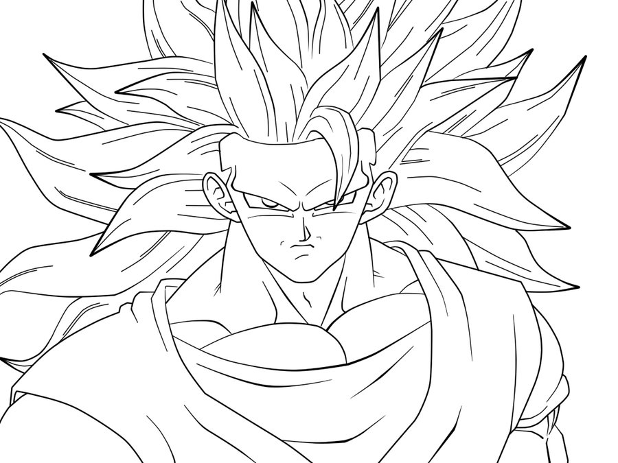 Cartoon Coloring Dibujos Para Colorear San Goku Super Color ...