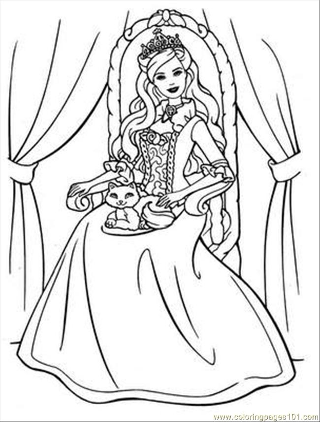 online princess coloring pages | coloring pages for kids, coloring ...