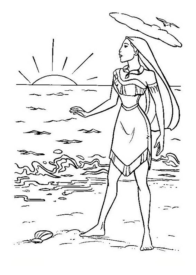 Dibujos De Pocahontas Para Colorear - AZ Dibujos para colorear