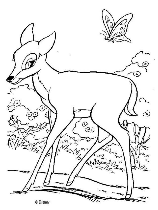 Encantador Bambi Y Faline Para Colorear Ideas - Páginas Para ...