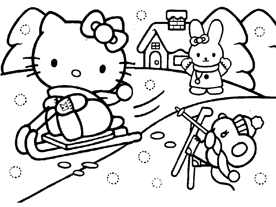 clan Christmas Colouring Pages