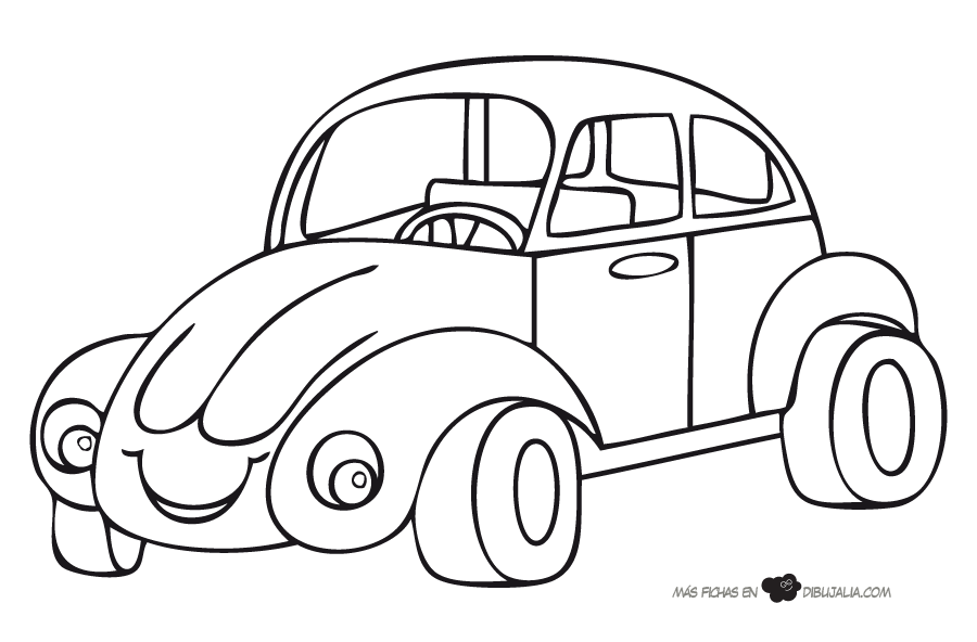 Dibujos Coches Para Colorear - AZ Dibujos para colorear