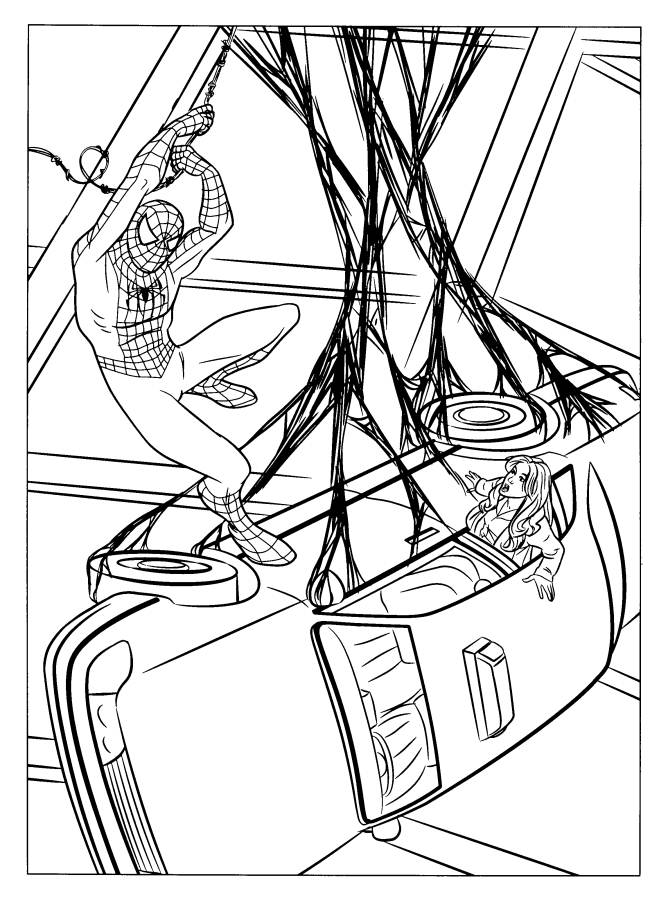 Spiderman Coloring Pages to Color Online - Superheroes Coloring ...