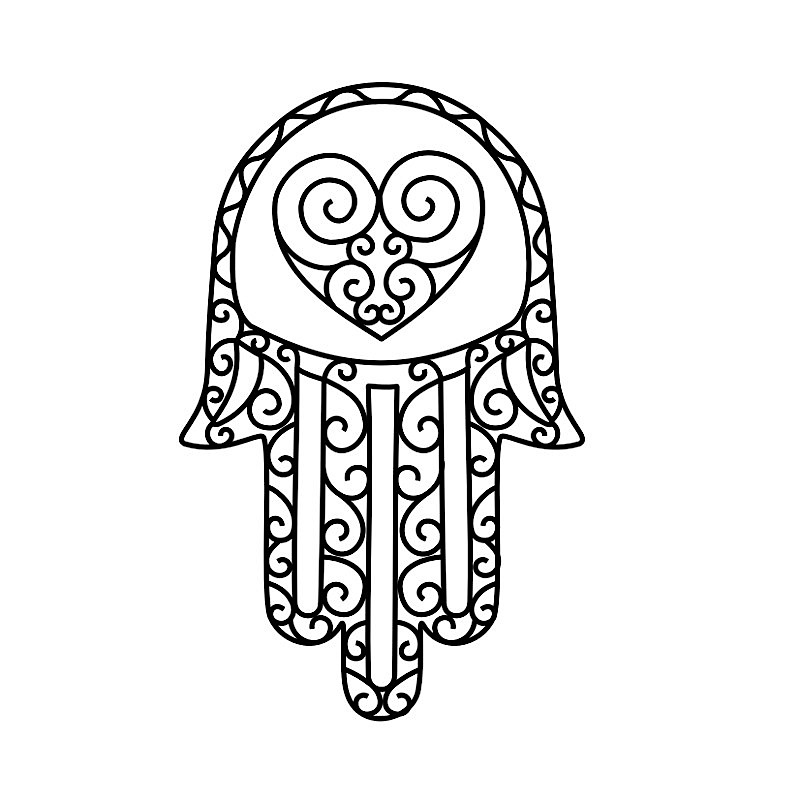 hamsa coloring pages - photo#23