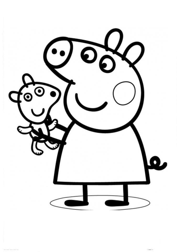 Peppa Pig Desenhos Para Imprimir Colorir E Pintar » Desenhos Para ...