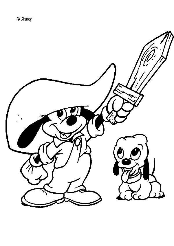 Hermosa Páginas Para Colorear De Personajes De Disney Bebé Bandera ...