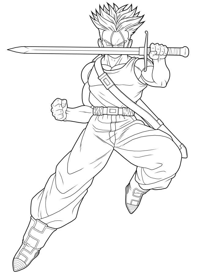 DIBUJOS DE DRAGON BALL Z: DIBUJOS DE DRAGON BALL PARA COLOREAR O ...