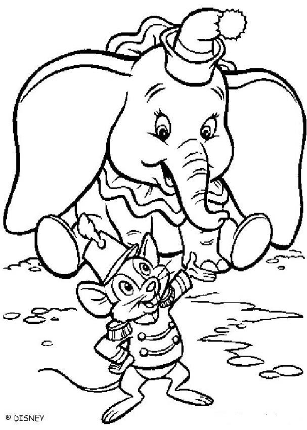 LAMINAS PARA COLOREAR - COLORING PAGES: Dumbo dibujar colorear e ...
